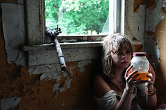 (yyellowbird) Tags: house selfportrait abandoned glass girl illinois jar cari sortagross