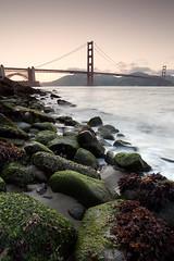 Golden gate bridge San Francisco Sunset (Blurry World) Tags: ocean sanfrancisco longexposure sunset beach sand rocks waves goldengatebridge bayarea gnd nd09 gnd09 leefilterholder marinamarinecountyleegndgraduatedfilter