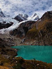 Laguna Solteracocha-Huayhuash Trek-Peru (mikemellinger) Tags: mountain peru nature water trekking trek landscape scenery hiking lagoon hike glacier andes laguna circuit cordillera huayhuash ancash yerupaja solteracocha