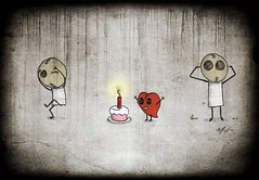 killing love #5 (Marcelle Carmack) Tags: cake candle heart bolo vela serie killinglove5 amormatando