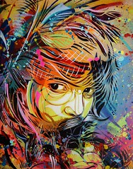 "C215 - ""Sounds of Silence"" (C215) Tags: streetart art french graffiti stencil christian pochoir masacara szablon c215 schablon gumy piantillas"