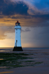 Silver Lining (Red All Over) Tags: lighthouse storm clouds newbrighton rivermersey