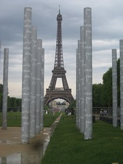 Eiffel Tower and peace memorial