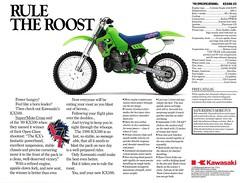 1990 KX500 Brochure Back (Dusty_73) Tags: green bike big team open class dirt 500 motocross 90 mx 1990 kawasaki bore kx kx500 kawie