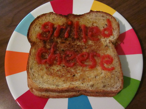My grilled cheese.
