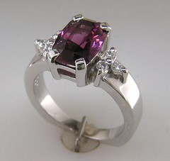 14K WG ring with grape spinel and diamonds (Herzog Jewelers) Tags: ring diamond grape spinel
