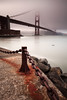 San Francisco Golden gate bridge under the fog #1 (Blurry World) Tags: ocean sanfrancisco longexposure bw beach marina canon rocks waves 110 goldengatebridge lee nd anchor bayarea l 1740mm gnd marinecounty nd09 bwnd110 5dmarkii leefilterholder graduatedfiltergnd09