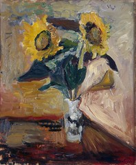 Henri Matisse - Vase of Sunflowers [c.1898-99]
