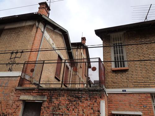 Lateral da principal casa da Vila Matarazzo. A casa do Chefe.