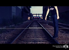 Secret Destinations (Rick Nunn) Tags: portrait white lines train bokeh tracks type explored strobist p502 p502010
