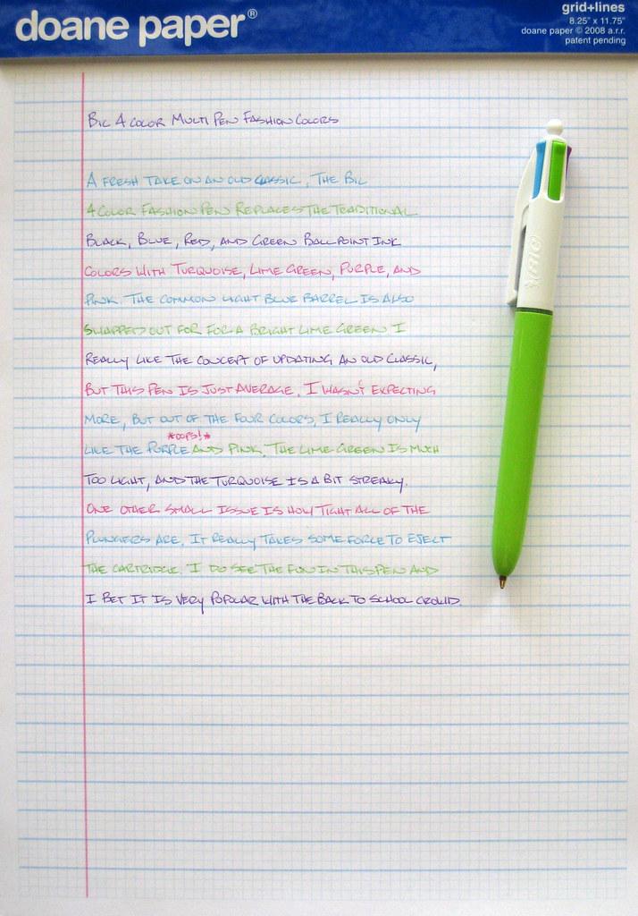 Review Bic 4 Color Fashion Colors Multi Pen The Pen Addict