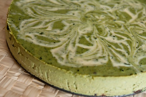 Matcha cheesecake 1