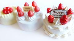 Re-ment Strawberry Shortcakes (karenisme08) Tags: cake miniature strawberry birthdaycake rement strawberryshortcake cakeonparade diycooking diykitchen letsdiy samplepuchicake
