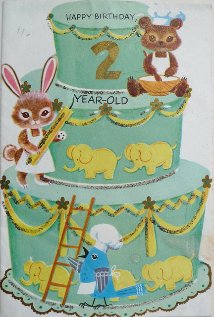 one of my 2nd birthday cards, 1961