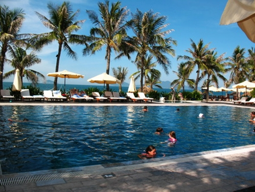 Nice swimming pools in Hoi An, Vietnam
