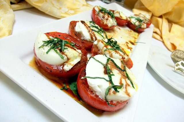 Mozzarella on Tomatoes