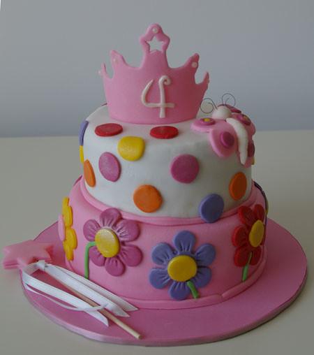 Tarta para princesas   tartas y nubes de azúcar