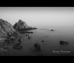 Santa Anna (danikaze) Tags: longexposure sea beach water rock fog canon mar agua playa girona niebla ef2470mmf28lusm rocas blanes largaexposicin santaanna canoneos5dmarkii