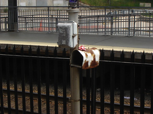 Trackside mailbox at JFK/UMASS stop on Red Line