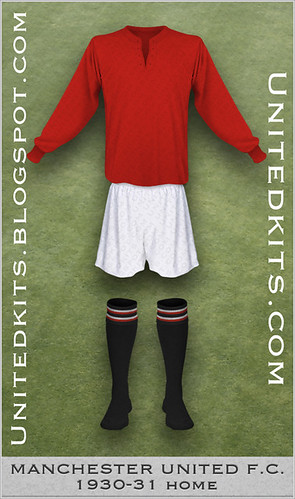 Manchester United 1930-1931 Home kit
