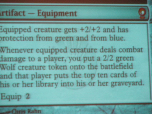 The rules text on Sword of Body and Mind