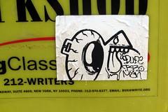 In NYC (LoisInWonderland) Tags: newyorkcity streetart graffiti sticker stickerart