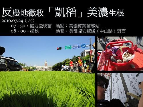 反農地徵收「凱稻」美濃生根