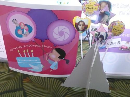 Each kid got a Photo Balloon