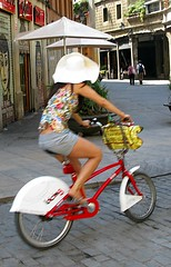 Con pamela en bici