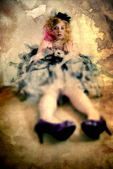 Tin Box (Macquillage of Curiosity) Tags: pink selfportrait art texture home stain gold pyramid unique tutu creations soulscape arttex