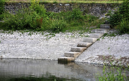 Steps Down Into Lisvane Reservoir
