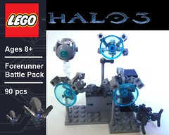 Forerunner Battle Pack (Nick Brick) Tags: 3 lego halo monitor spark guilty sentinel 343 forerunner