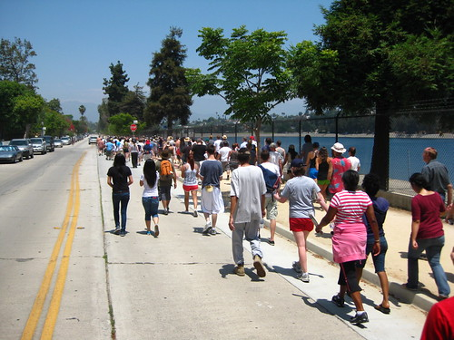 Memorial Walk For Silver Lake's Walking Man