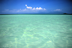 Oh so turquoise (Menetnashté) Tags: ocean blue sea sky green water relax thailand island solitude turquoise sandbar samui shoal