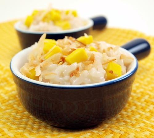 Coconut Mango Rice Pudding