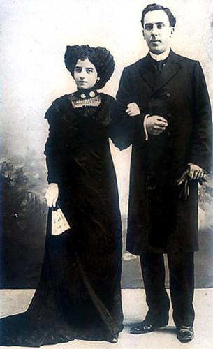 Antonio Machado y Leonor Fotografía de la boda Julio 1909