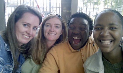 Me, Sonja, Mongezi & Nthabiseng having lunch