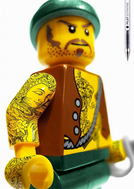 Pilot Extrafine: Lego Tattoos