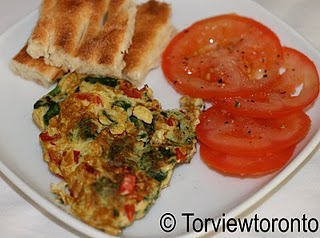 Moist Omelette with Vegetables @ Torview Toronto