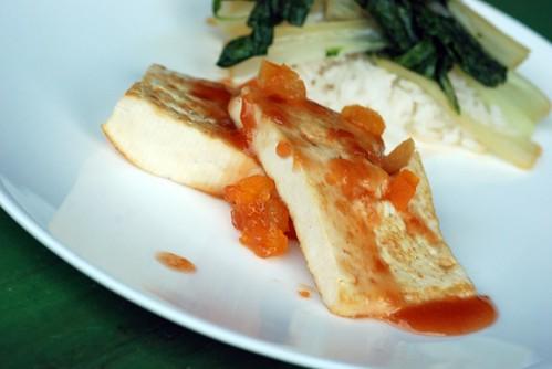 Apricot Glazed Tofu and Rice @ Taste Space
