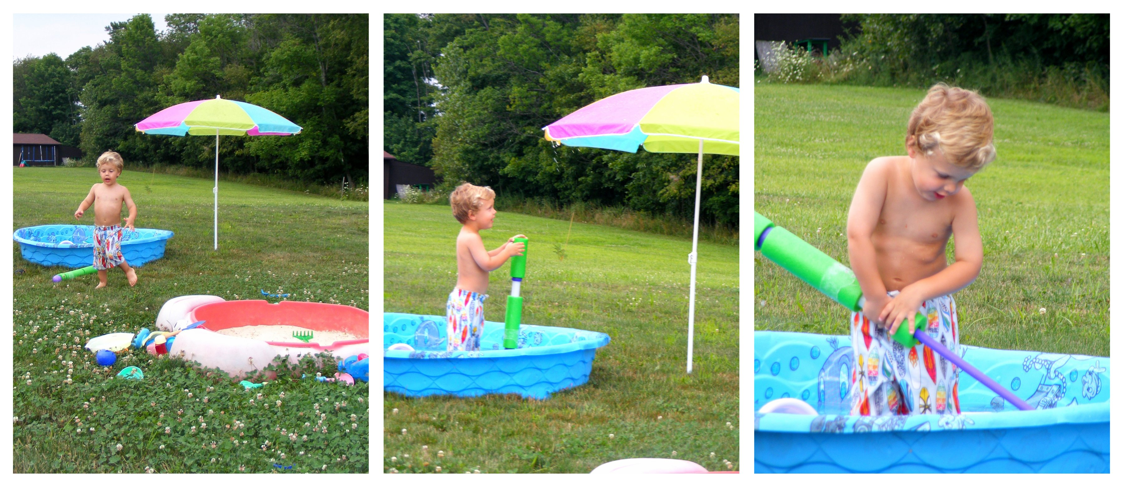 bday water fun collage