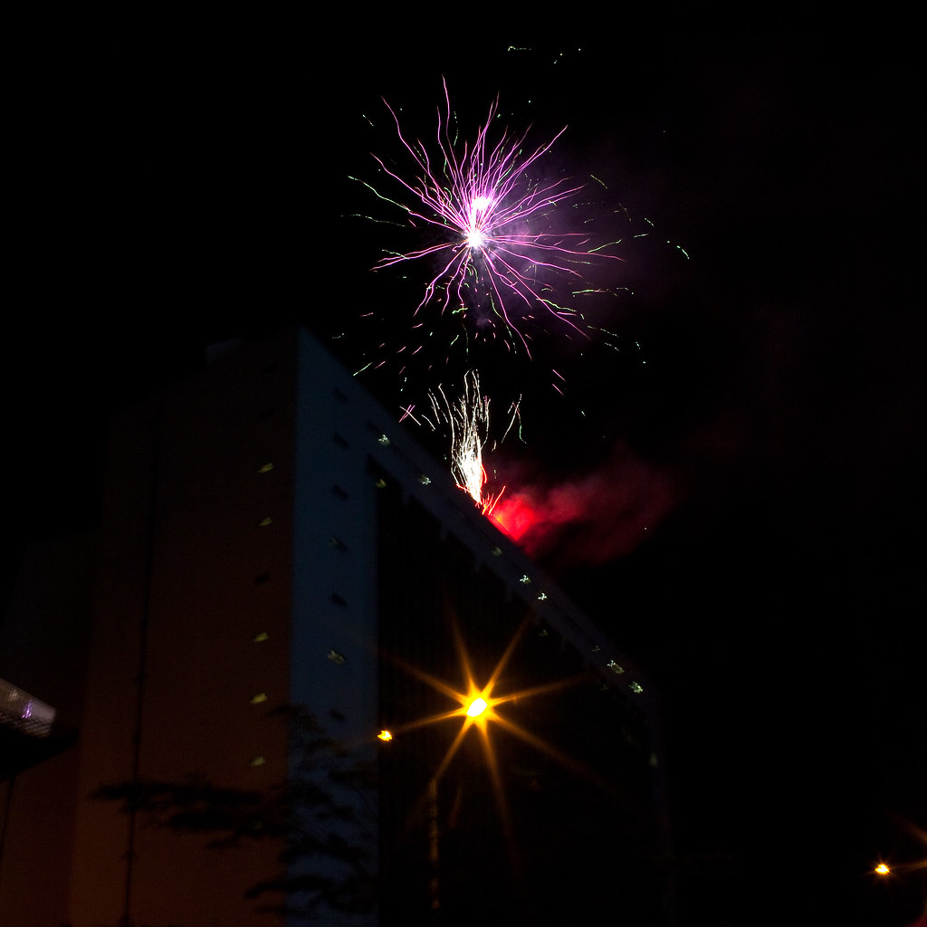 Fireworks for the Fiesta de Flores, Medellin, Colombia