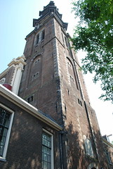 Amsterdam - Westerkerk Tower From Prinsengracht 2 (Le Monde1) Tags: city holland tower netherlands dutch amsterdam nikon capital canals prinsengracht westerkerk d60 lemonde1