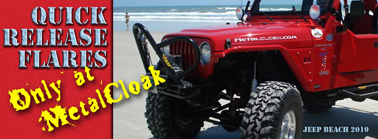 Quick Release Jeep Tube Fender Flares