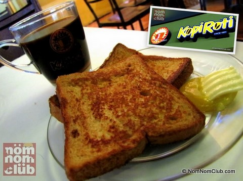 Kopi Roti French Toast with Kaya spread and butter