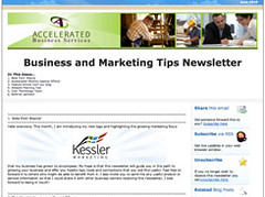 Kessler Marketing Newsletter Image