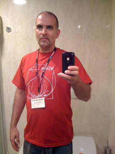 Tagged with the official shirt of YAPC:: EU