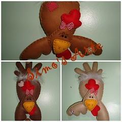 Detalhes (Efeltro Borboleta) Tags: feltro galinhas enfeitecozinha galinhasequilibristas