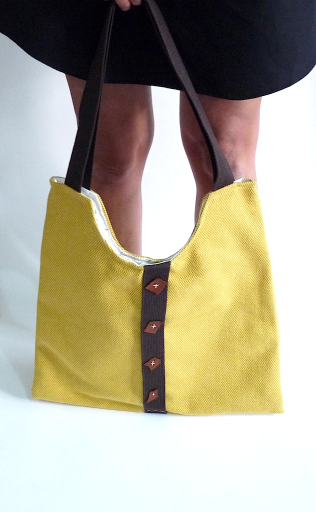 YELLOW - French Shoulder Bag-OOAK-NEW 2011