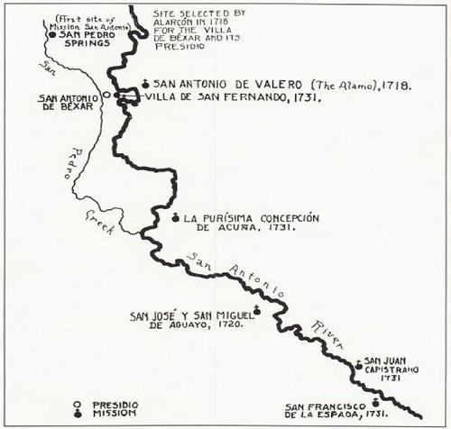 San Antonio River Map